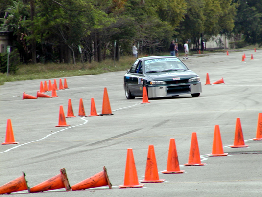"On track at ""We love cones"" autocross"