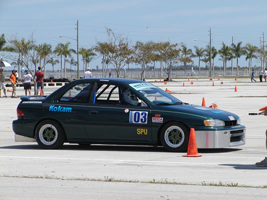 "On track at ""March Madness"" autocross"