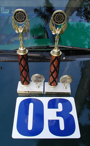 autocross 1st place trophies
